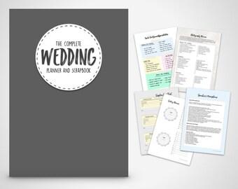 Wedding Planner book, wedding organizer Print at home Digital Download,Wedding Planner, Wedding Binder Printable, wedding checklists