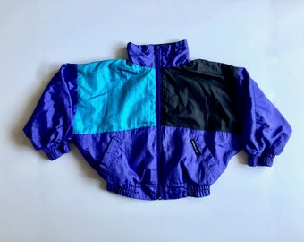 Vintage Toddler Boy's 90's Members Only Jacket, Nylon, Long Sleeve (Size 4)