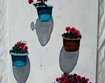 Spanish Villa Wall Painting 16x20in