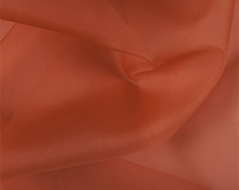 Orange Silk Organza, Fabric By The Yard