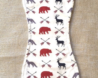 Forest Animal Burp Cloth