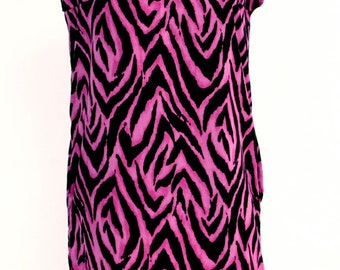 Pink and Black Zebra Print Dress