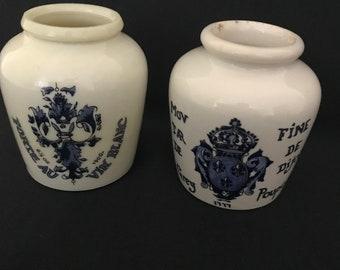 Ceramic French mustard pots
