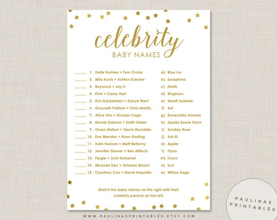 Intrepid image inside celebrity baby name game printable