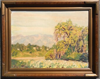 Rolla Sims Taylor Texas Regionalist Original Vintage Antique Impressionist American Landscape Oil Painting