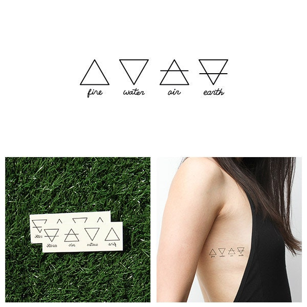 alchemy temporary tattoo set of 2. Black Bedroom Furniture Sets. Home Design Ideas