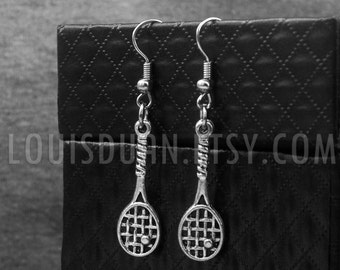 Silver Tennis Earrings  -Tennis Racket Earrings -Gift For Her -Bridesmaid Jewelry -With Gift Box