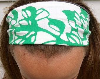 Headband, Lupine, Yoga headband, Fashion Headband, Silkscreened, Handmade, Reversible Headband, All Cotton