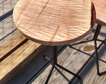 Curly Maple End Table
