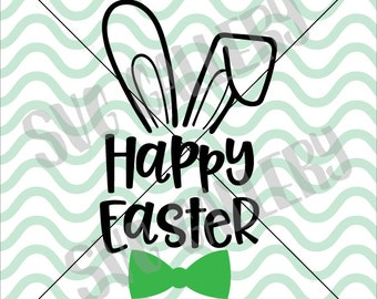 Happy Easter SVG, Easter SVG, bunny svg, Easter bunny svg, hoppy easter svg, Digital cut file, Easter egg svg, bunny svg, commercial use OK