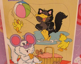 1987 Hallmark Purr-Tenders Frame Tray Board Puzzle