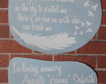 Custom in Memory of / Memorial decals. Custom decal. In memory car decal. Custom memory. In loving memory. Funeral decal. Loved one decal