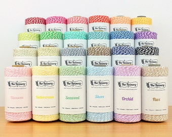 Choose 3 colours - The Twinery baker's twine (5 metres per colour, 15 metres in total)