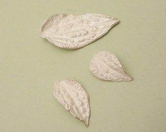 sterling silver leaves cast clematis leaf silversmithing supplies UL036-3