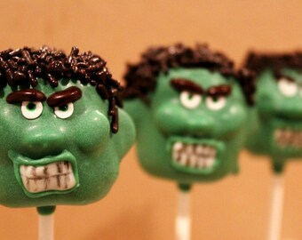 The Hulk Cake Pops