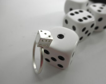 Sterling  silver  dice ring