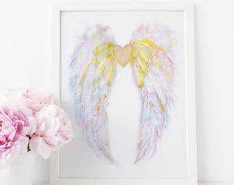 Angel Wings Wall Decor, Fairy Wings, Baby Shower Gift, Angel Wings, Guardian Angel, Nursery Decor, Nursery Wall Art, Baby Girl Gift, Angel