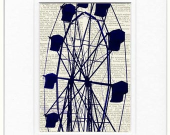 ferris wheel print, carnival ride II