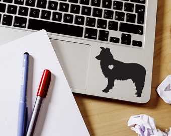 Border Collie sticker Border Collie Decal Car Laptop Vinyl Decal Sticker