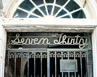 "New Orleans Art - ""Seven Thirty"" french quarter photograph architecture louisiana wall decor home decor mardi gras print, 8x10, 11x14, 16x20"