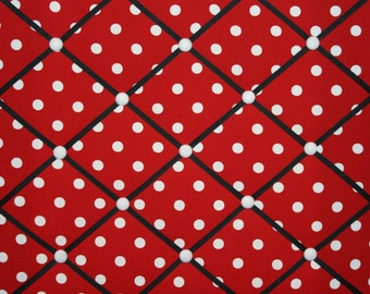 Lipstick Red White Polka Dot French Ribbon Memo Message Picture Board
