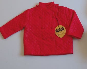 Vintage red coat quilted 2 years