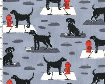 Ike & Oona - Ike Fabric - Gray - Sold by the 1/2 Yard