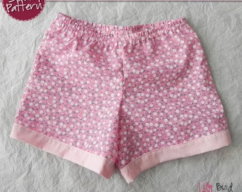 Simple 30 minutes Shorts for boy/girl- perfect project for beginners - 0 months to 8 years - PDF Pattern and Tutorial - easy sew