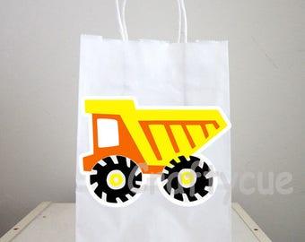 Dump Truck Goody Bags, Dump Truck Goody Bags, Construction Birthday Goody Bags, Construction Goody Bags