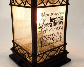 Mothers day gift - Memorial gift - in memory of gift - vintage lantern - wax melt warmer  - rustic lantern centerpiece - sympathy gift