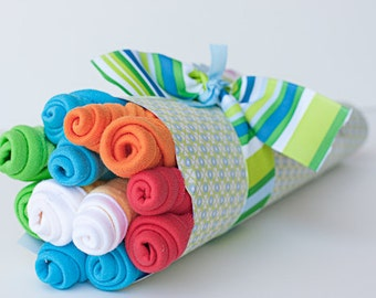 Baby Washcloth Bouquet Baby Shower Gift - Boy