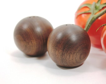 Wood Salt and Pepper Shakers