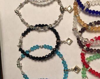 Rhinestone triangle  charm magnetic bracelet
