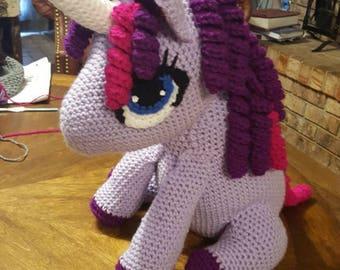 TWILIGHT SPARKLE My Little Pony inspired Plush Toy