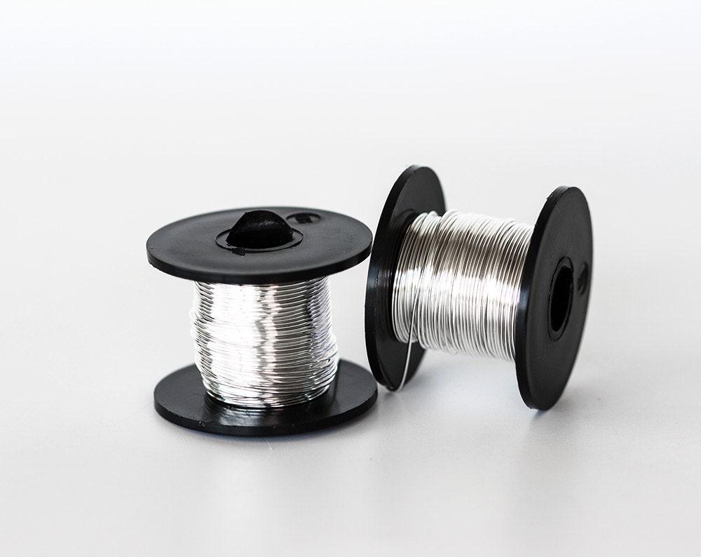 2173 Silver wire 22 gauge Jewelry wire 0.6mm Soft wire spool Craft ...