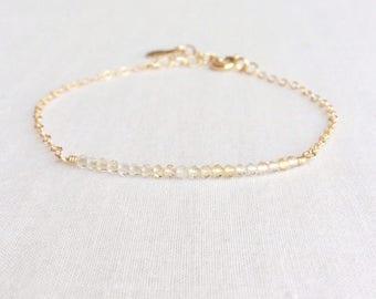 Citrine Bracelet, November Birthstone Bracelet, Yellow Stone Bracelet, Yellow Citrine Bracelet, Citrine Bracelet Women, Bracelet, GBB11