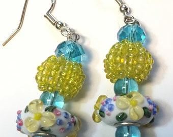 Spring Floral - Drop Earrings