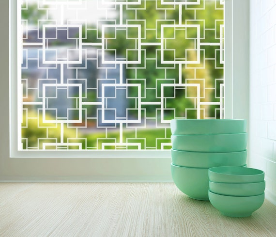 Sheer Window Etched Glass Decal by StickPretty