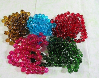 10mm Spray Painted Round Glass Bead Strand (B240c)