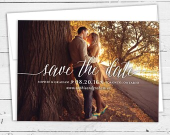 Sophie Suite | Save the Date Card | Flat Card, Postcard | Includes Envelopes | Modern Calligraphy