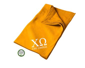 Chi Omega Blanket, Sorority Throw Blanket, ChiO