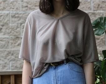 Sheer Patterned Oversized Short Sleeve