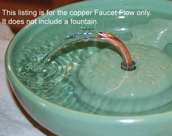 "Cat Fountain accessory For ThirstyCat Fountains of Any Size Handmade, ""Antimicrobial Serenity Flow"" add on"