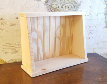 Wooden Wall Shelf with Bead Board Backing