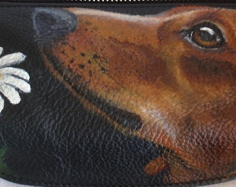Vicenzo leather hand painted with YOUR PET Waistbag Bag