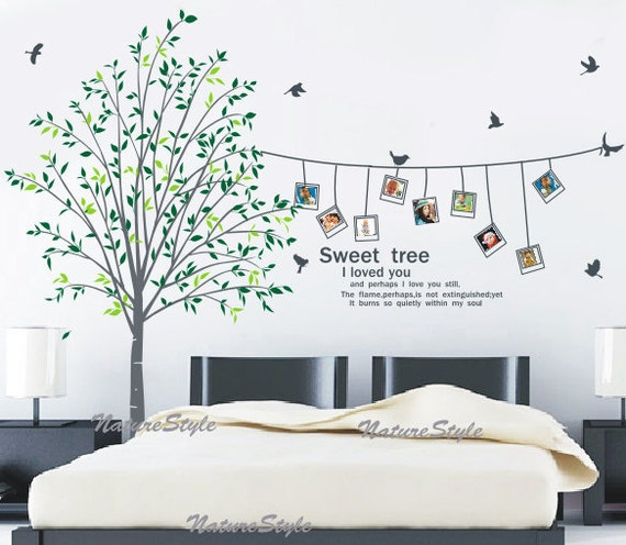 Beautiful photograph on the tree vinyl wall decalstickernature design