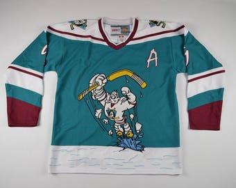 90s Mighty Ducks Hockey Jersey, Vintage Hockey Jersey, Paul Kariya Mighty Ducks Hockey Jersey, Anaheim Mighty Ducks Jersey White Blue