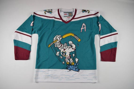 90s New CCM Banks #99 Mighty Ducks Movie Hockey Jersey Mens Medium, Vintage Mighty Ducks Hockey Jersey, Vintage Jersey, 90s Hockey Jersey