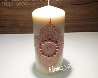 Christmas collection, henna candle, personalized, 0008B