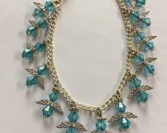 Blue Angel Charm Bracelet.